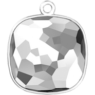 Swarovksi Setting 4483/J (GLUE-IN) - 14mm, Rhodium Plated, 1TC (RING ON TOP, closed)
