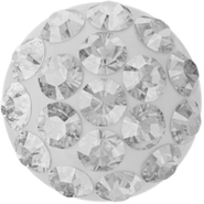 Swarovski Cabochon PAVE 86601 - 6mm, Crystal (001), White (01), 2pcs