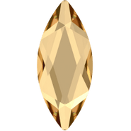 Swarovksi Flatback 2201 - 8x3.5mm, Crystal Golden Shadow (001 GSHA) Foiled, No Hotfix, 144pcs