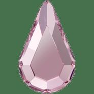 Swar Crystal Flatback 2300 - 8x4.8mm, Light Rose (223) Foiled, No Hotfix, 12pcs