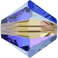 Swarovksi Bead 5328 - 4m, Sapphire Aurore Boreale 2x (206 AB2), 48pcs