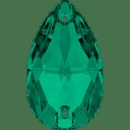 Swar Sew-on 3230 - 18x10.5mm, Emerald (205) Foiled, 2pcs