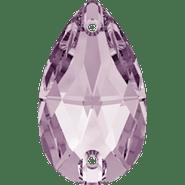 Swar Crystal Sew-on 3230 - 18x10.5mm, Light Amethyst (212) Foiled, 2pcs