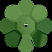 Swar Crystal Sew-on 3700 - 10mm, Fern Green (291) Unfoiled, 6pcs