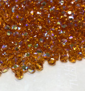 Swar Crystal Crystal Bead 5000 - 5mm, Topaz AB (203AB), 20pcs