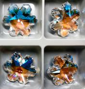 Swar Crystal Pendant 6704 - 25mm, Crystal Blue AB (001BLAB), 1pc