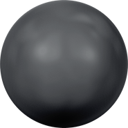 Swar Crystal Pearl 5817 - 12mm, Black, Half Drilled, 4pcs