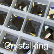 2420 Asymmetric Square, Flatback No Hotfix, Crystal Satin
