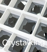2420 Asymmetric Square Flatback No Hotfix Jet Hematite
