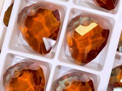Swar Pendant 6190 - 35mm, Crystal Copper (001 COP), 1pc