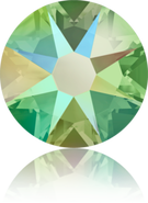Swar Crystal Flatback 2088- ss16, Peridot Shimmer (214 SHIM) Foiled, No Hotfix, 36pcs