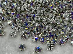 Swar 53102 - Crystal Montees, 4mm, Crystal AB (001 AB), 24pcs