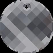 Swarovski Pendant 6621 - 18mm, Crystal Silver Night (001 SINI), 72pcs