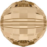 Swarovski Bead 5005 - 8mm, Crystal Golden Shadow (001 GSHA), 216pcs