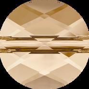 Swarovski Bead 5052 - 8mm, Crystal Golden Shadow (001 GSHA), 144pcs