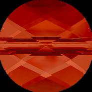 Swarovski Bead 5052 - 8mm, Crystal Red Magma (001 REDM), 144pcs