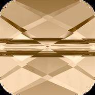 Swarovski Bead 5053 - 8mm, Crystal Golden Shadow (001 GSHA), 144pcs