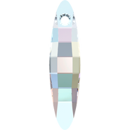 Swarovski Pendant 6470 - 32mm, Crystal Aurore Boreale (001 AB), 36pcs