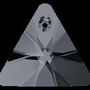 Swarovski Pendant 6628 - 16mm, Crystal Silver Night (001 SINI), 72pcs