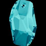 Swarovski Pendant 6673 - 18mm, Light Turquoise (263), 48pcs