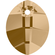 Swarovski Pendant 6734 - 23mm, Crystal Golden Shadow (001 GSHA), 30pcs