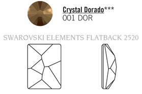 Swar Flatback 2520 - 8x6mm, Crystal Dorado (001 DOR) Foilded, No Hotfix 12pcs