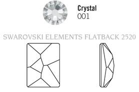 Swar Flatback 2520 - 8x6mm, Crystal (001) Unfoiled, 12pcs