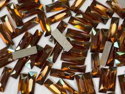 Swar Flat Back 2555 - 12x4mm,  Crystal Copper (001 COP) Foiled, No Hotfix, 6pcs