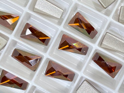 Swar Flat Back 2770 - 12x7mm, Crystal Copper (001 COP) Foiled, No Hotfix, 4pcs