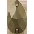 Swarovski 3230# - 12X7mm Crystal, Metallic Light Gold (001 MLGLD) Foiled, 4pcs