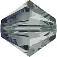 Swarovski 5328# - 4mm Black Diamond Dorado (215DOR), 48pcs