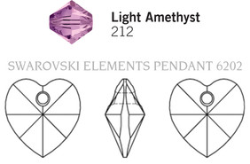 Swar Pendant 6202 - 10.3x10mm, Light Amethyst, 6pcs