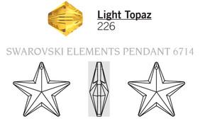 Swar Pendant 6714 - 20mm, Light Topaz (226), 1pc