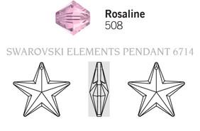 Swar Pendant 6714 - 20mm, Rosaline (508), 1pc