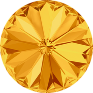 Swar Round Stone 1122 - 12mm, Sunflower (292) Foiled, 4pcs