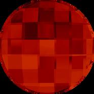 Swarovski Flatback 2035 - 10mm, Crystal Red Magma (001 REDM) Foiled, No Hotfix, 192pcs