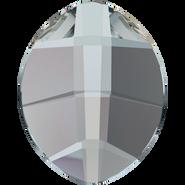 Swarovski Flatback 2204 - 10x8mm, Crystal Silver Night (001 SINI) Foiled, No Hotfix, 144pcs