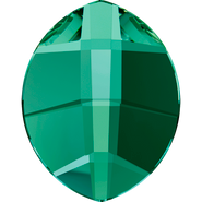 Swarovski Flatback 2204 - 10x8mm, Emerald (205) Foiled, No Hotfix, 144pcs