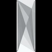 Swarovski Flatback 2570 - 50x16mm, Crystal Comet Argent Light (001 CAL) Unfoiled, No Hotfix, 6pcs