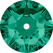 Swarovski Sew-on 3188 - 3mm, Emerald (205) Foiled, 1440pcs