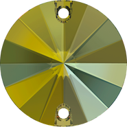Swarovski Sew-on 3200 - 10mm, Crystal Iridescent Green (001 IRIG) Foiled, 72pcs