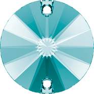 Swarovski Sew-on 3200 - 10mm, Light Turquoise (263) Foiled, 72pcs