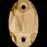 Swarovski Sew-on 3231 - 23x14mm, Crystal Golden Shadow (001 GSHA) Unfoiled, 36pcs