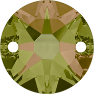 Swarovski Sew-on 3288 - 10mm, Crystal Luminous Green (001 LUMG) Foiled, 96pcs