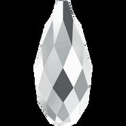 Swarovski Pendant 6010 - 11x5.5mm, Crystal Light Chrome (001 LTCH), 144pcs