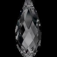 Swarovski Pendant 6010 - 13x6.5mm, Crystal Silver Night (001 SINI), 144pcs