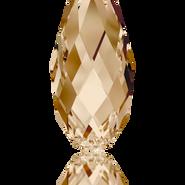 Swarovski Pendant 6010 - 17x8.5mm, Crystal Golden Shadow (001 GSHA), 36pcs