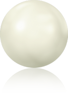 Swar Hotfix Pearl 2080/4 - ss16, Crystal White (001 650), Hotfix, 36pcs