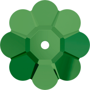 Swarovski Sew-on 3700 - 10mm, Fern Green (291) Unfoiled, 6pcs
