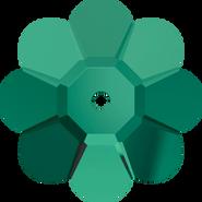 Swar Sew-on 3700 - 12mm, Emerald (205) Unfoiled, 6pcs